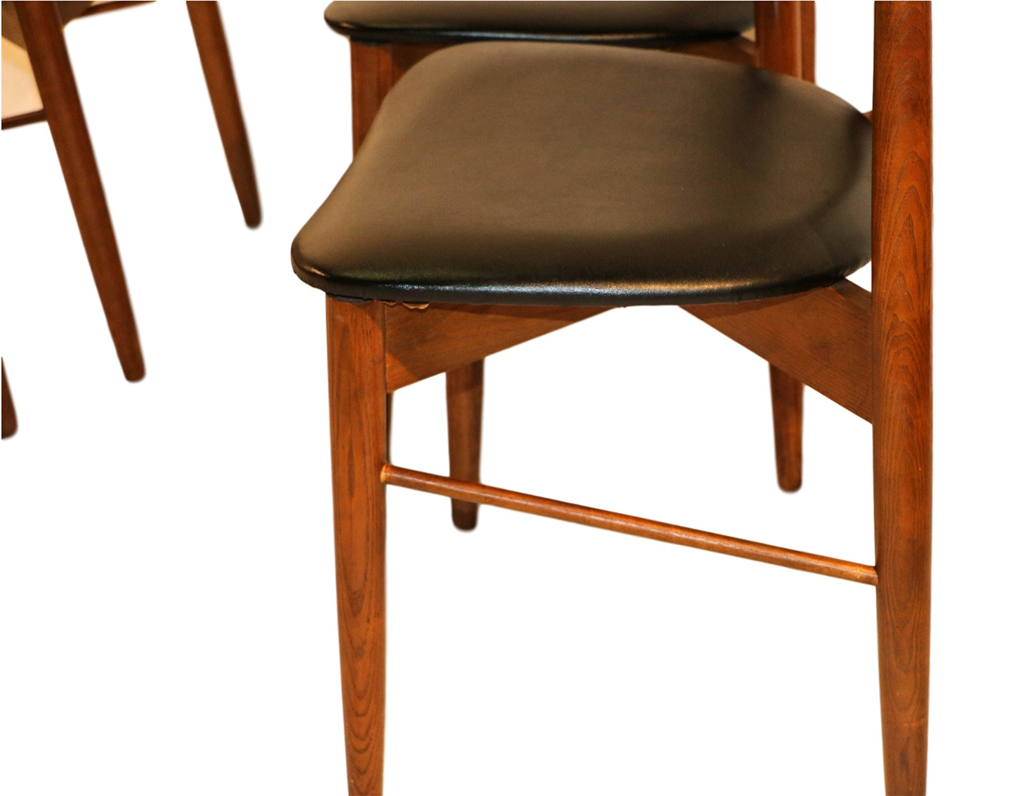 lane mid century modern walnut dining chairs