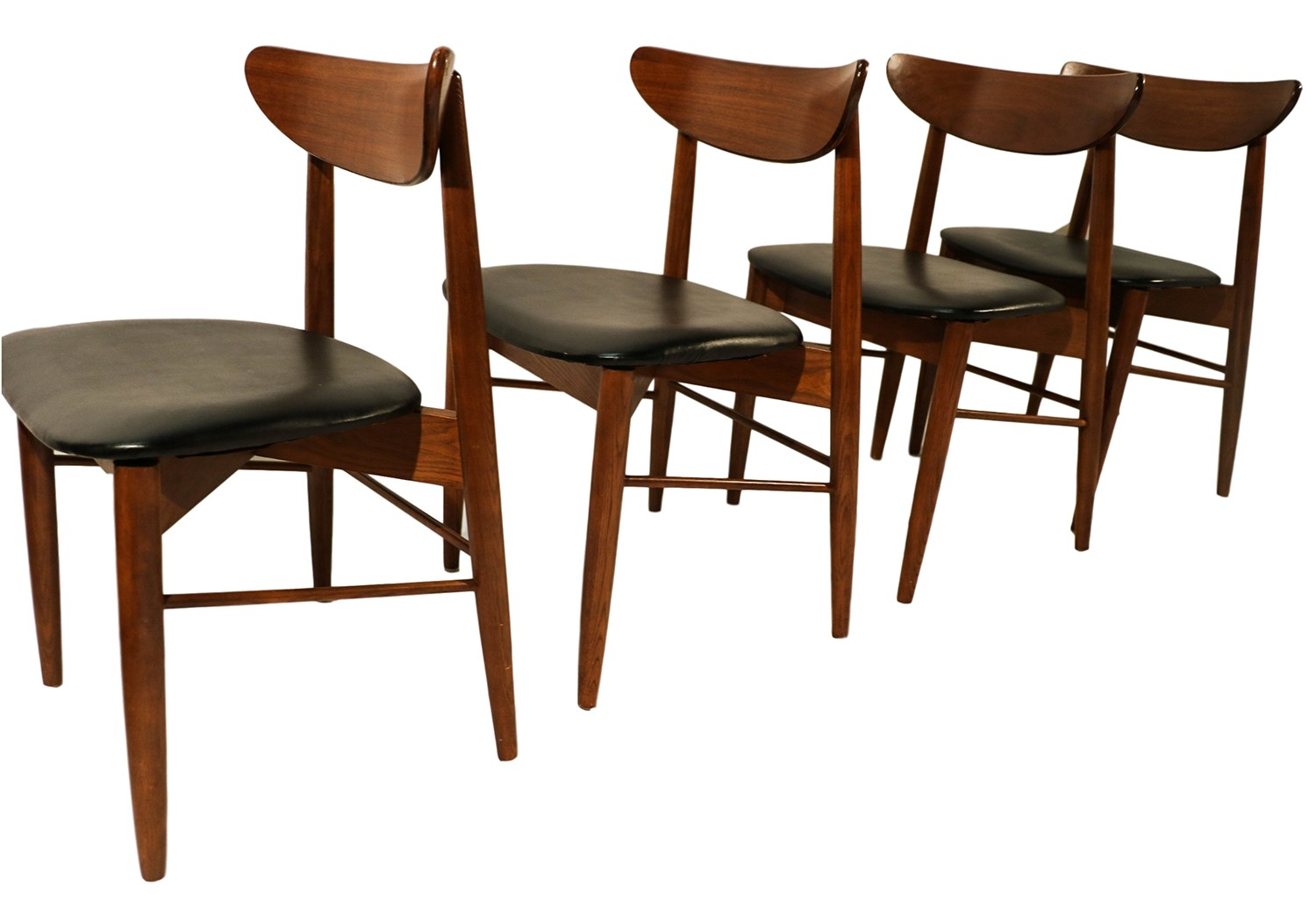 Lane mid century modern walnut dining chairs for Mid century modern seating