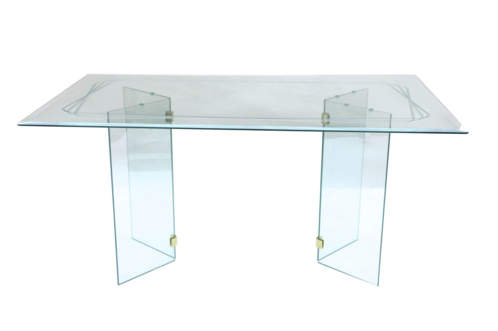 Mid Century Modern Pace Style glass Dining Table