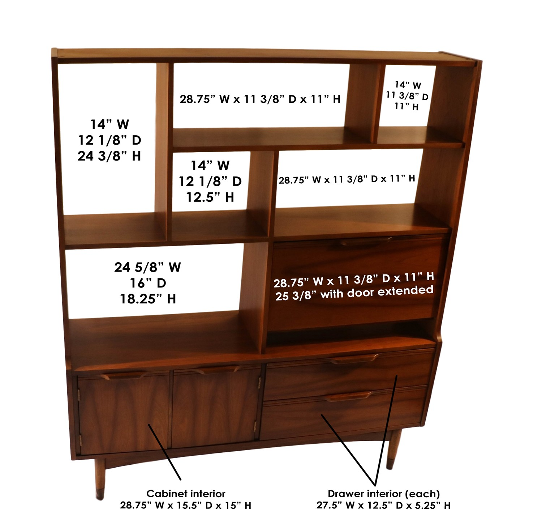 Mid Century Modern Room Divider Bookcase hutch : Mid Century Modern Room Divider Bookcase hutch 2 from marykaysfurniture.com size 1500 x 1438 jpeg 497kB