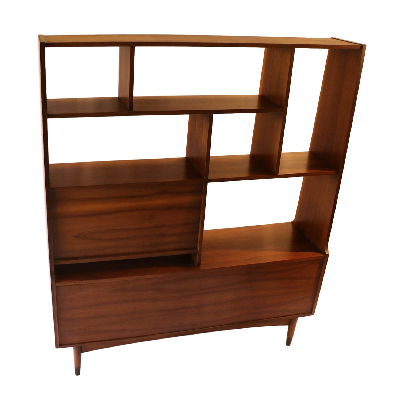 Mid century modern room divider bookcase hutch Modern divider
