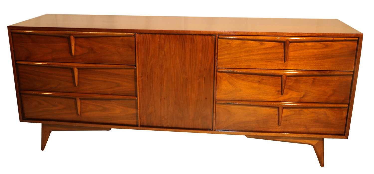 mid century modern sculpted dresser sideboard. Black Bedroom Furniture Sets. Home Design Ideas