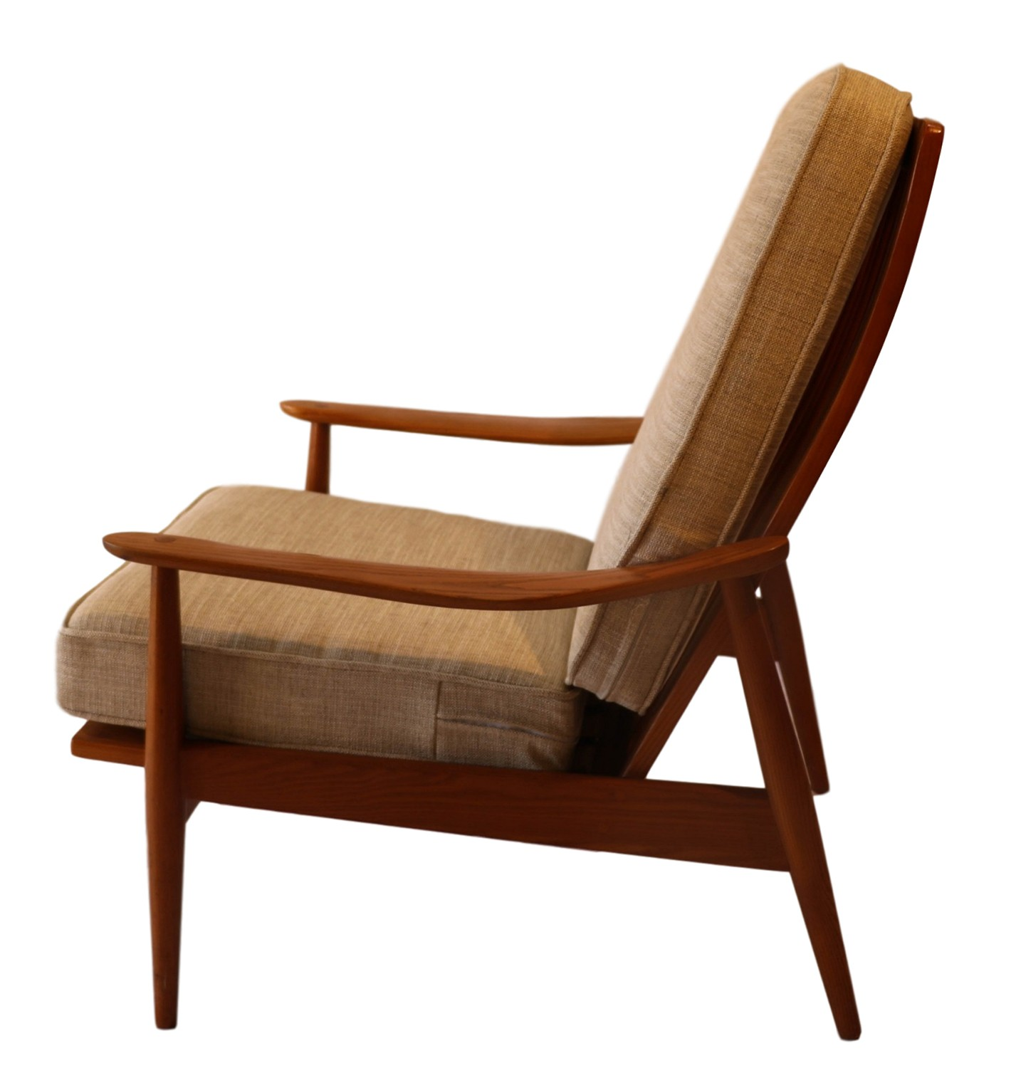 Mid Century Chair: Mid Century Modern Teak High Back Lounge Chair