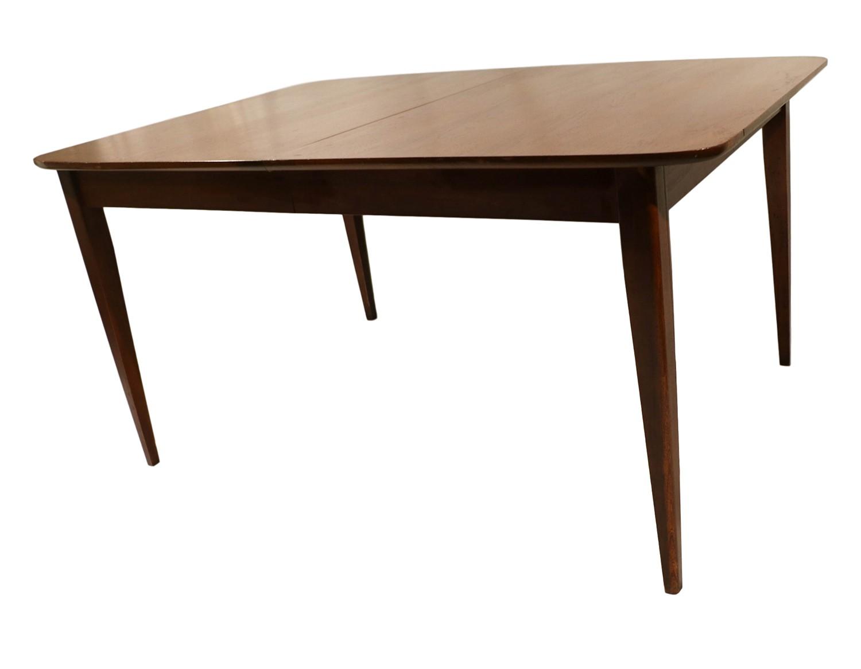 Mid century modern walnut dining table for Mid century modern dining table
