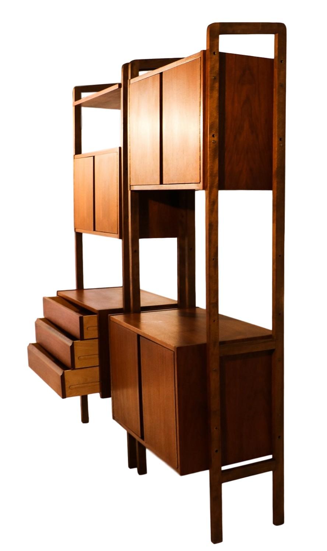 Mid century modern storage room divider bookcase hutch Modern divider