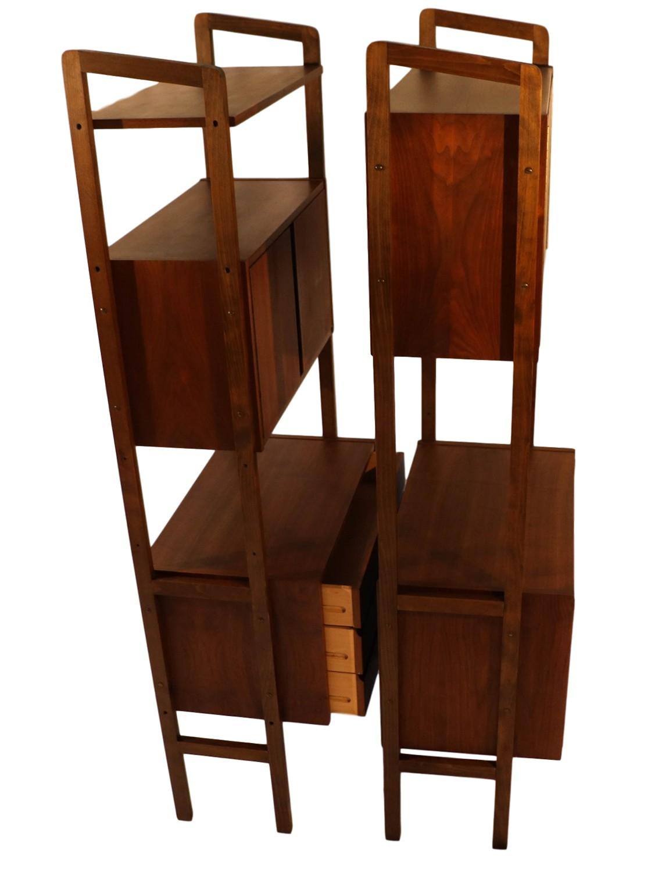 Mid Century Modern Ceiling Light Fixture: Mid Century Modern Storage Room Divider Bookcase Hutch