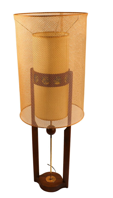 Mid century modern tall large table lamp aloadofball Images
