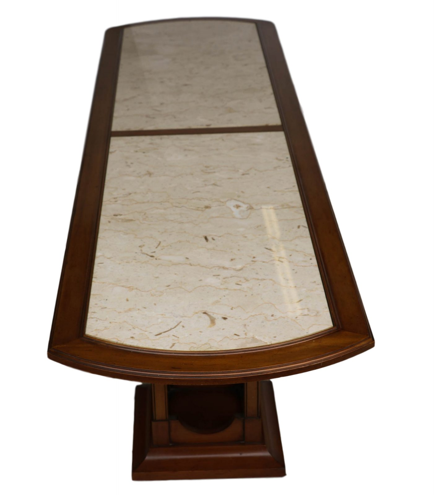 Mid Century Modern Marble Table: Gorgeous Mid Century Modern Walnut Marble Inset Coffee
