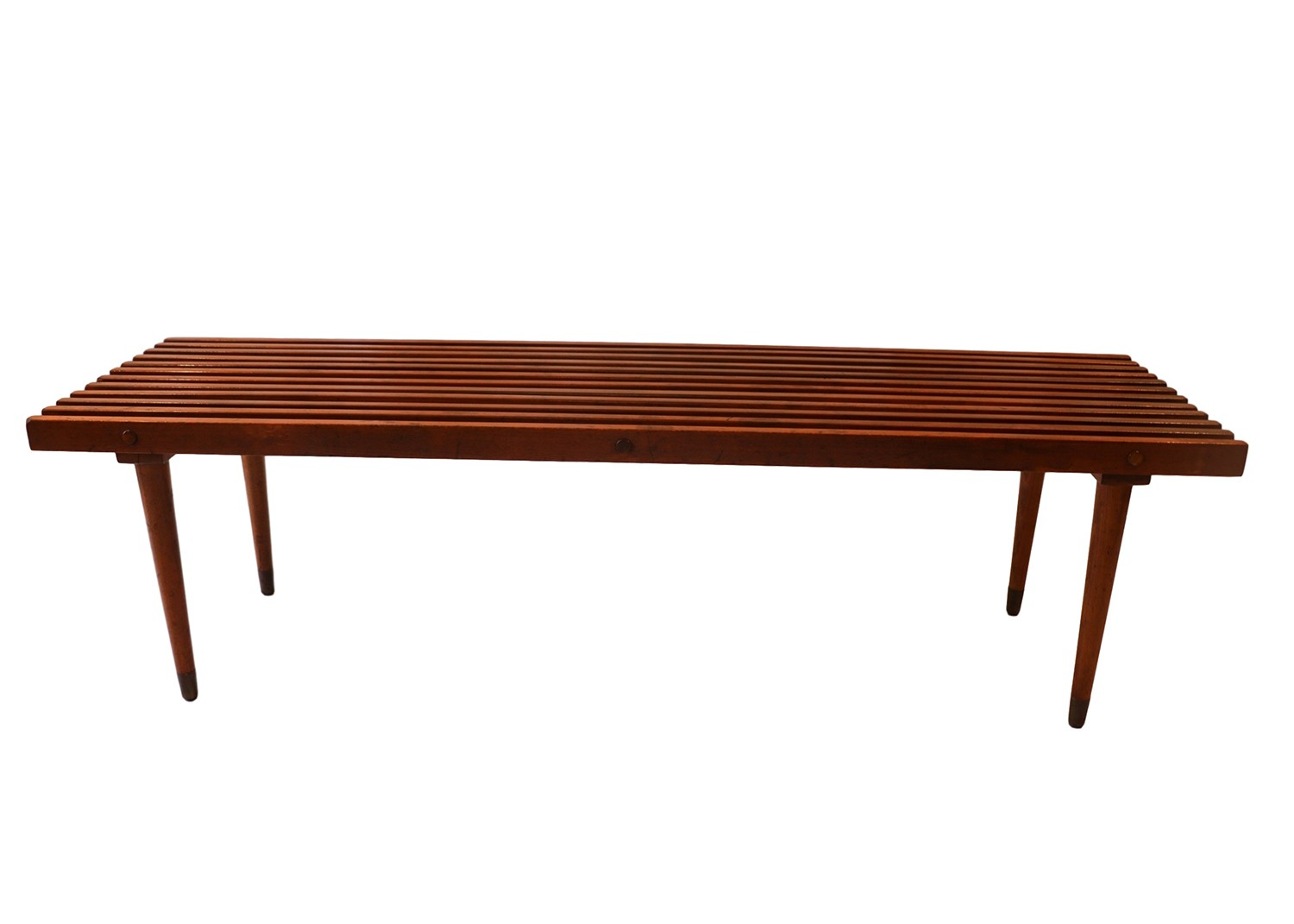 Mid Century Slatted Wood Bench Coffee Table George Nelson
