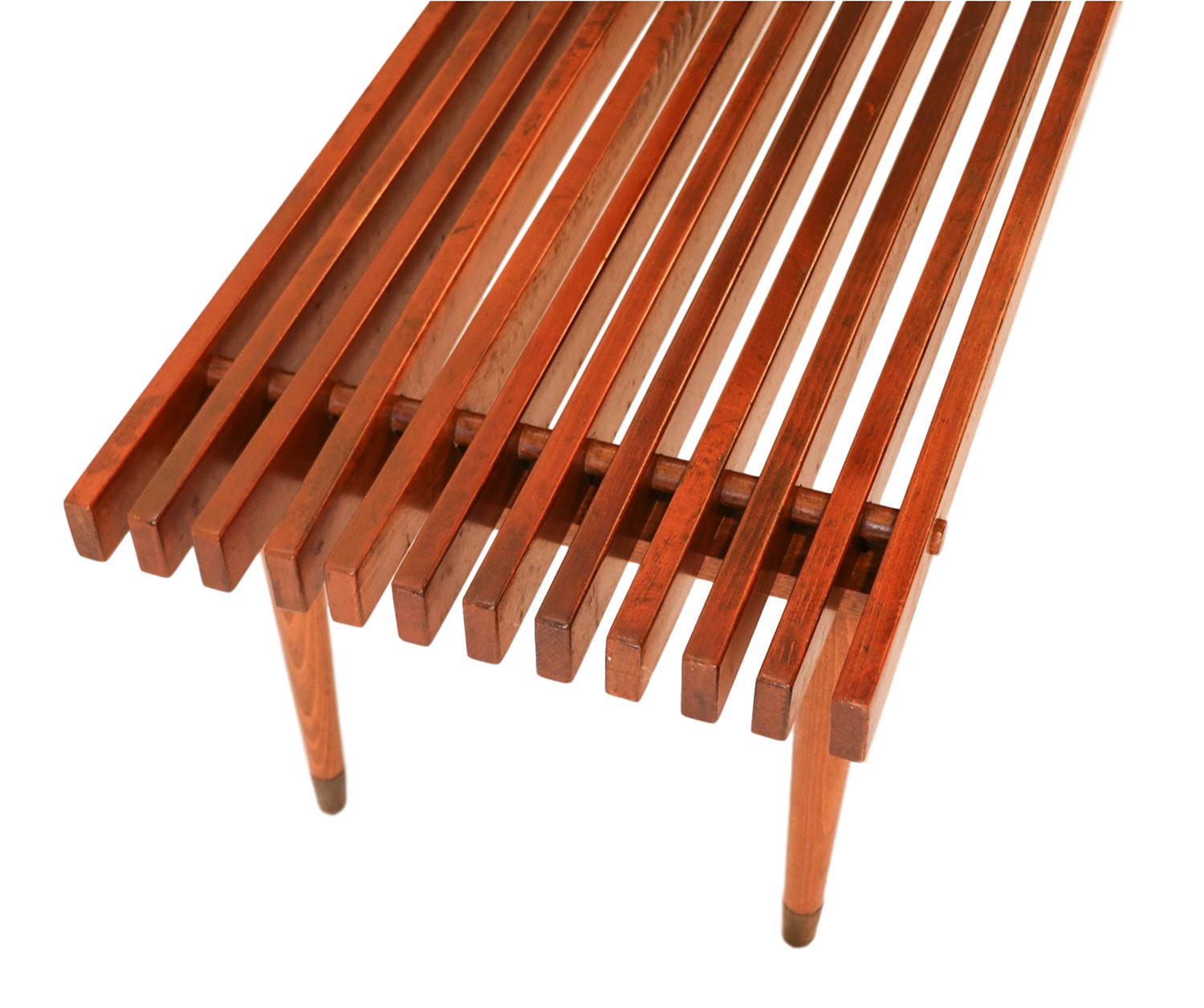 Mid Century Modern Bench: Mid Century Slatted Wood Bench Coffee Table George Nelson