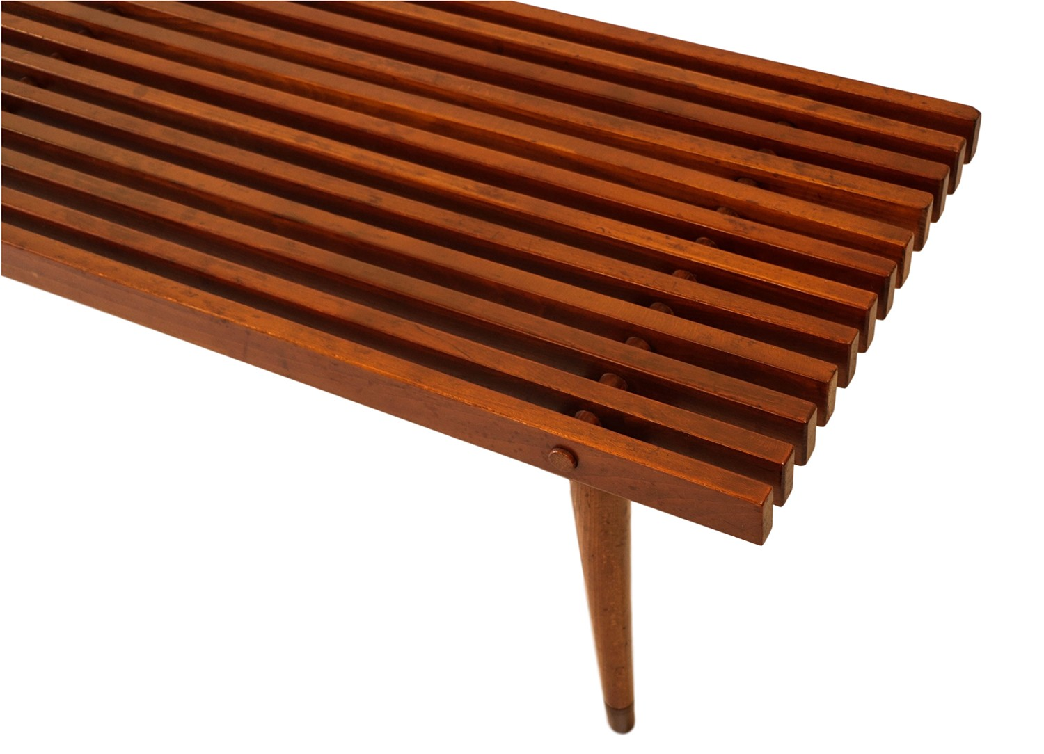 Amazing Mid Century Slatted Wood Bench Coffee Table George Nelson Style