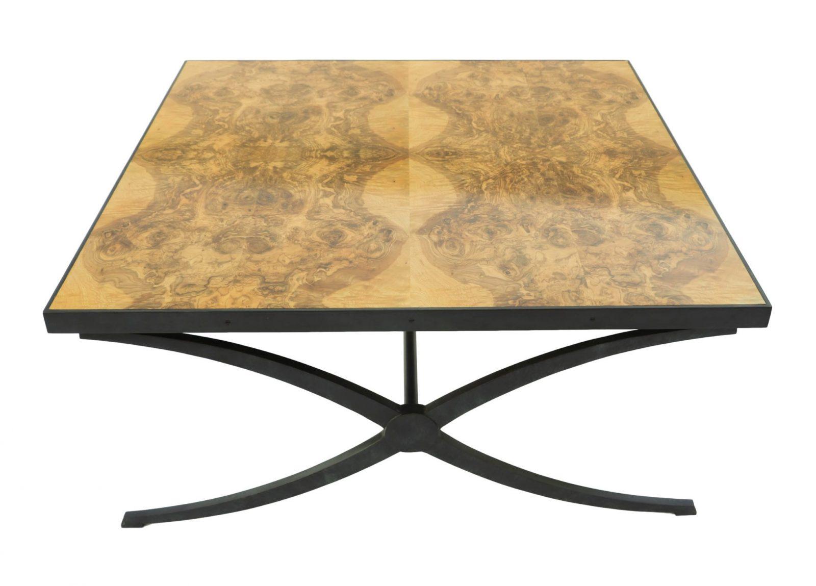 Mid Century Style Theodore Alexander Burl Coffee Table