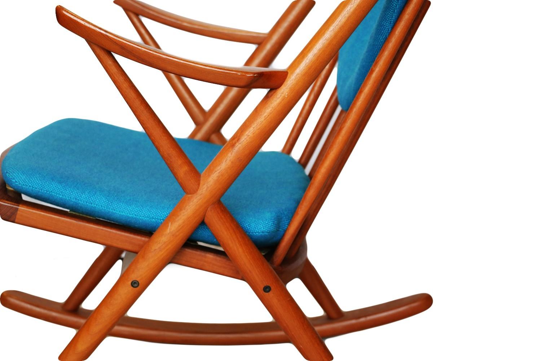 Frank reenskaug rocking chair - Teak Rocking Chair By Frank Reenskaug