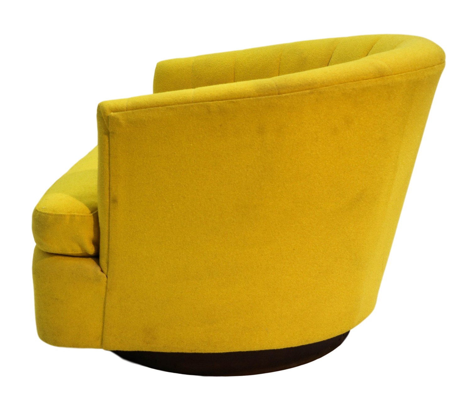 Mid Century Yellow Swivel Tub Chair Milo Baughman Style
