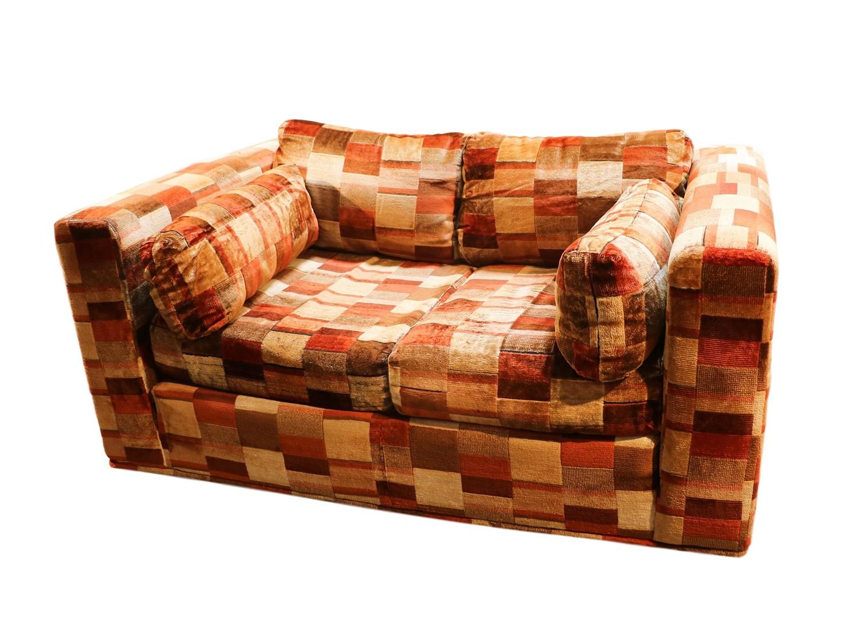 mid century loveseat milo baughman style jack lenor larsen. Black Bedroom Furniture Sets. Home Design Ideas