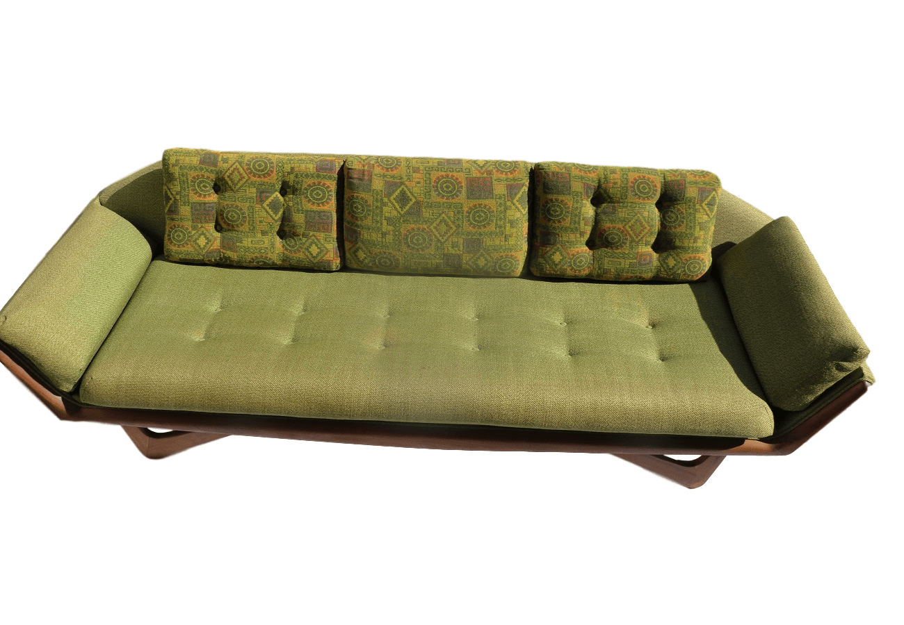 mid century danish modern adrian pearsall gondola sofa. Black Bedroom Furniture Sets. Home Design Ideas