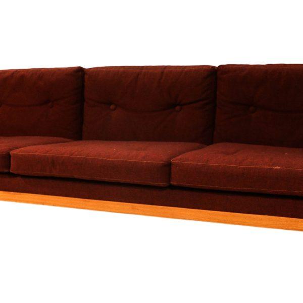 Milo Baughman Style Teak Case Sofa Denmark by Jydsk