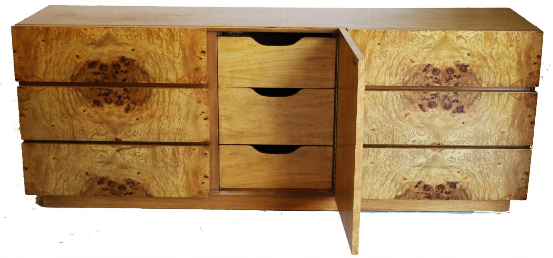 Burl Wood Dresser By Milo Baughman For Lane Usa 1970s