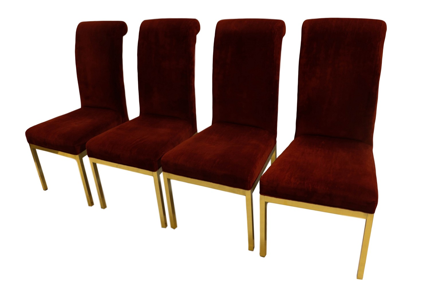Modern milo baughman style parson brass dining chairs for What is a parsons chair style