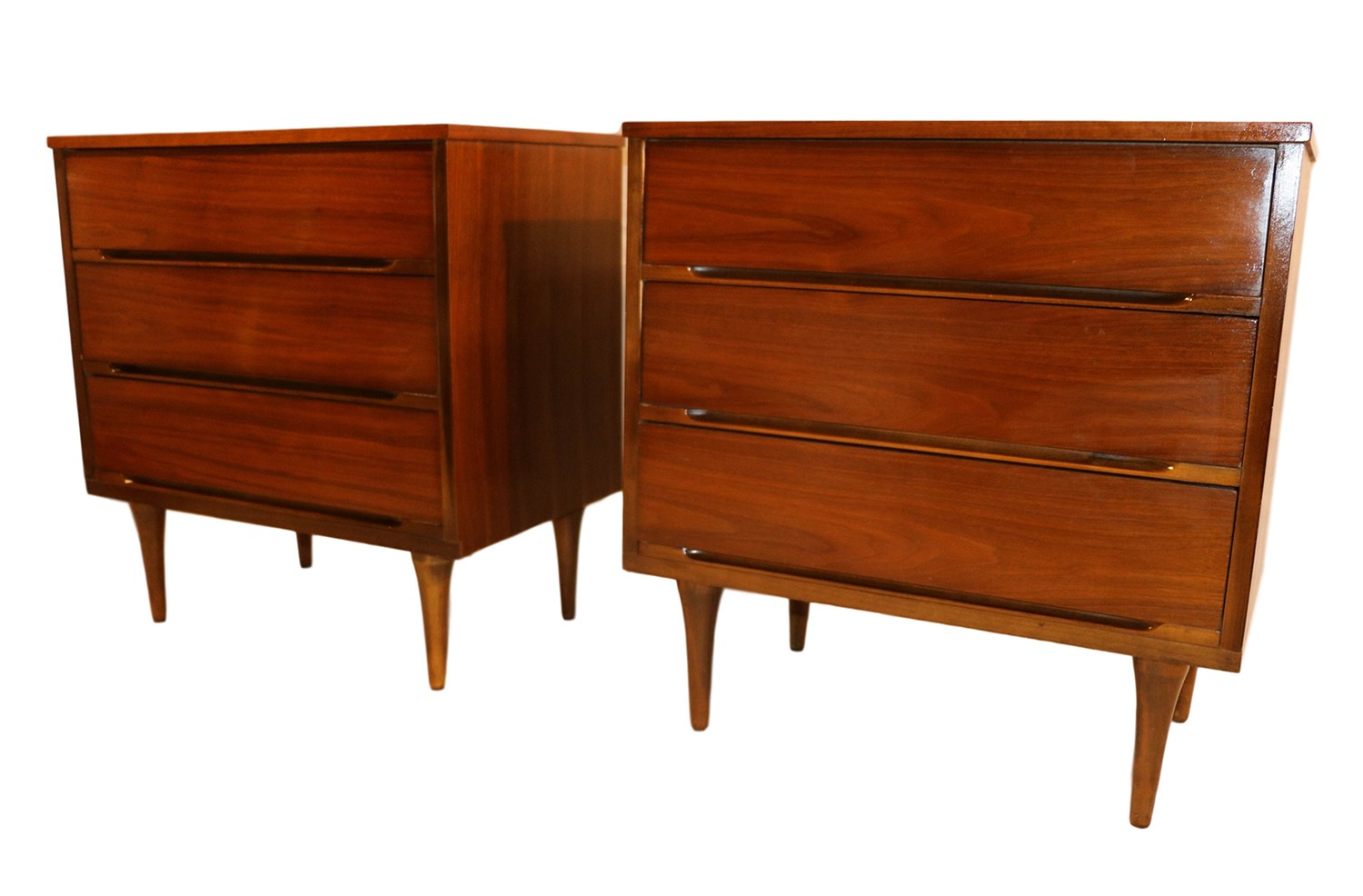Pair mid century dressers chests nightstand tables - Pictures of nightstands ...
