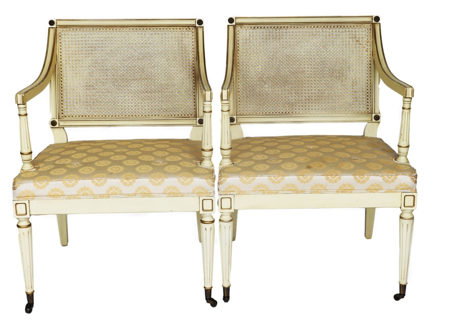 Pair of Federal style Gilt Arm Chairs