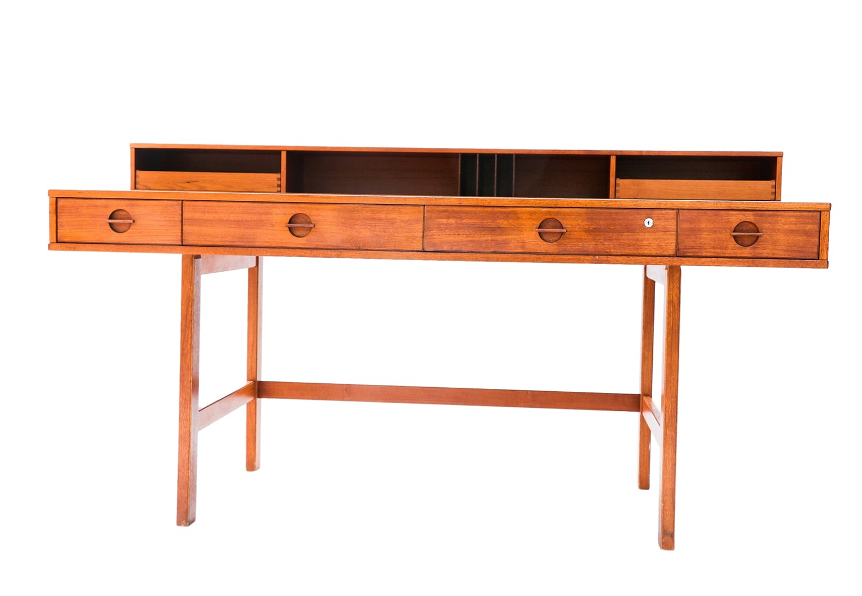 Peter Lovig Nielsen Danish Modern Teak Flip Top Desk