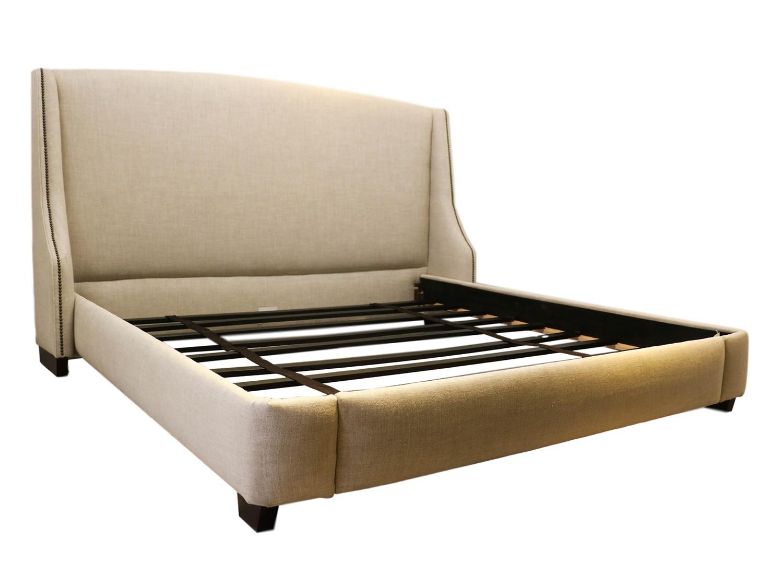 Restoration Hardware Warner Fabric King Bed