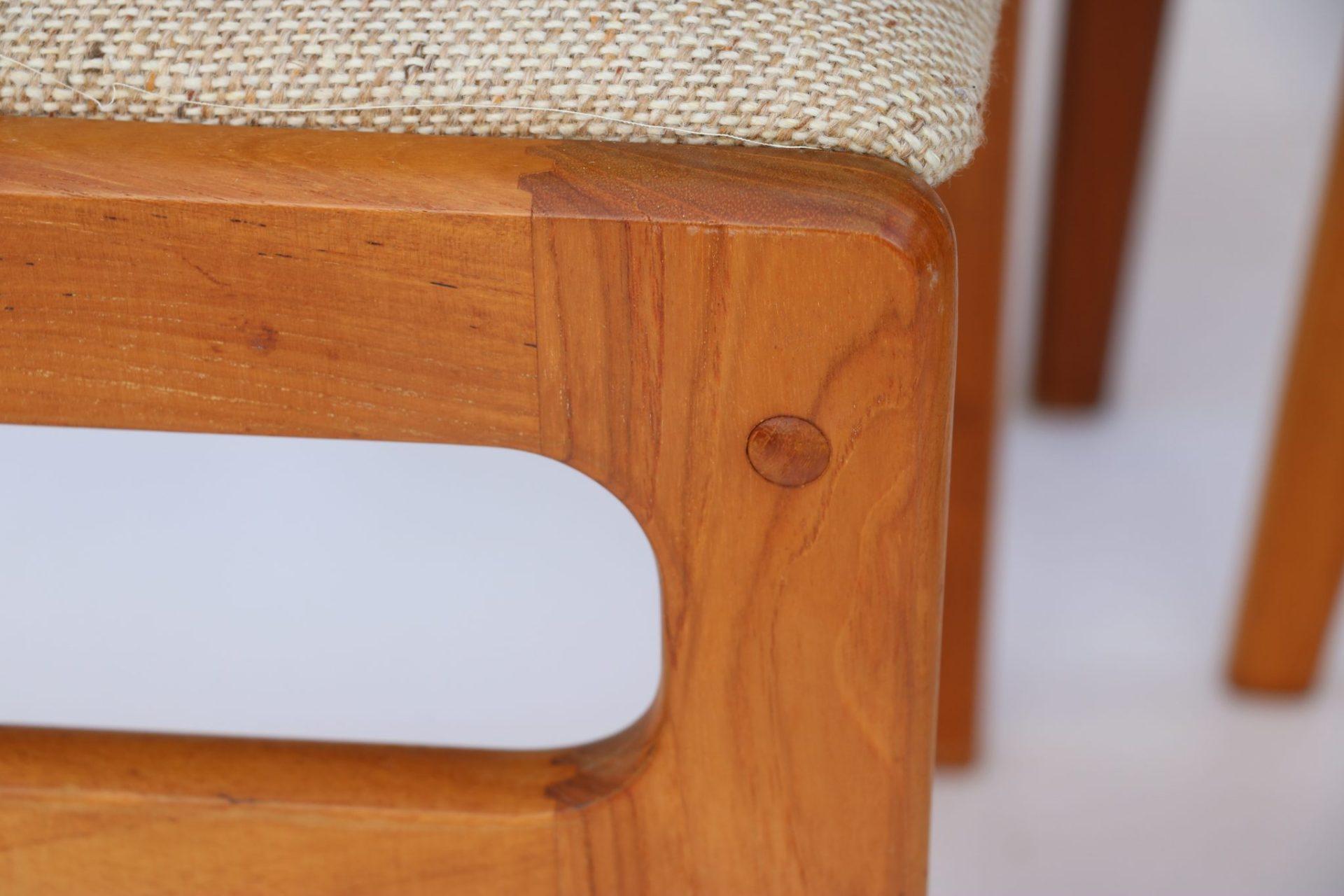 Set Of Six Original Vintage D Scan Teak Dining Chairs