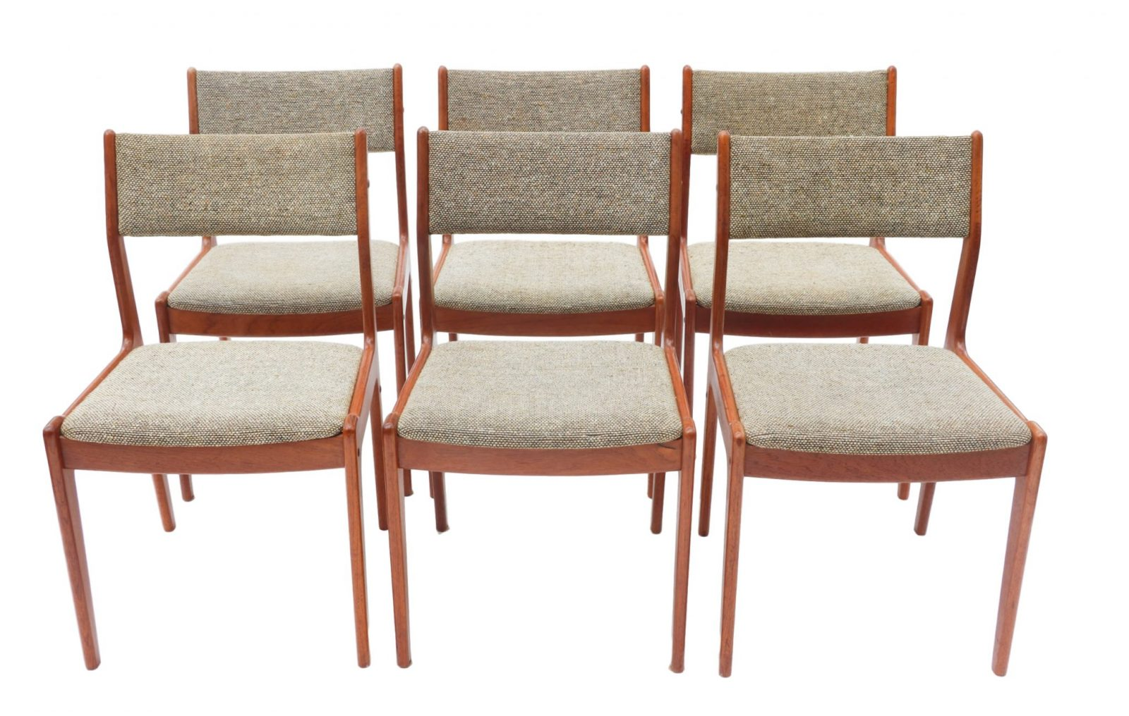 Six scandinavian teak danish dining chairs for Scandinavian furniture