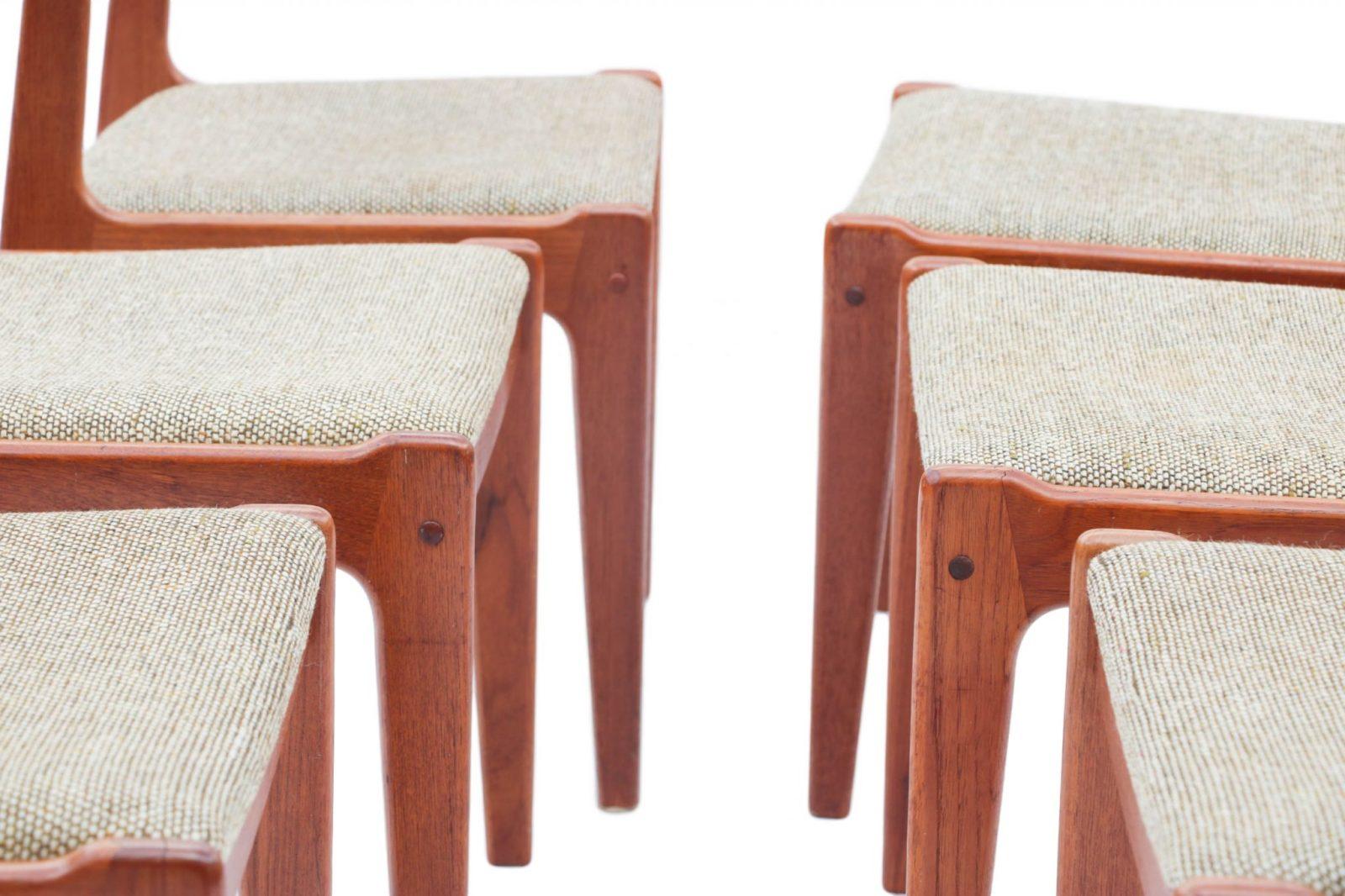 Six Scandinavian Teak Danish Dining Chairs