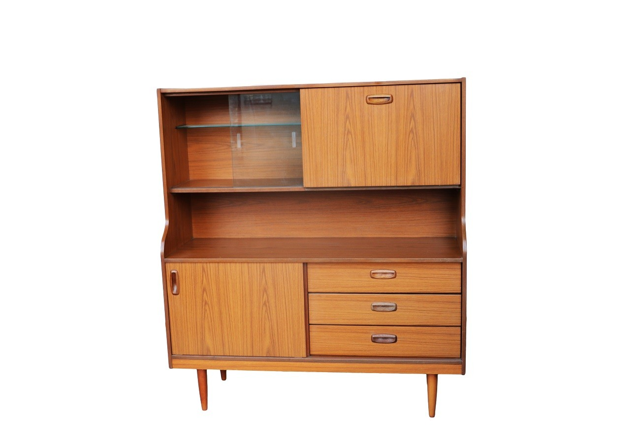 Teak Retro Drinks Cocktail Cabinet Sideboard
