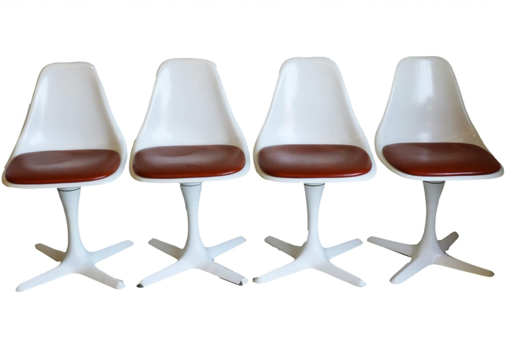 set  mid century tulip chairs  burke