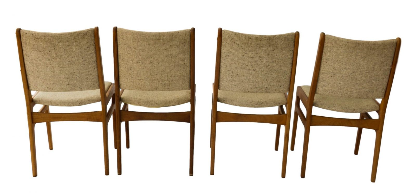Vintage D Scan Danish Teak Dining Chairs Four