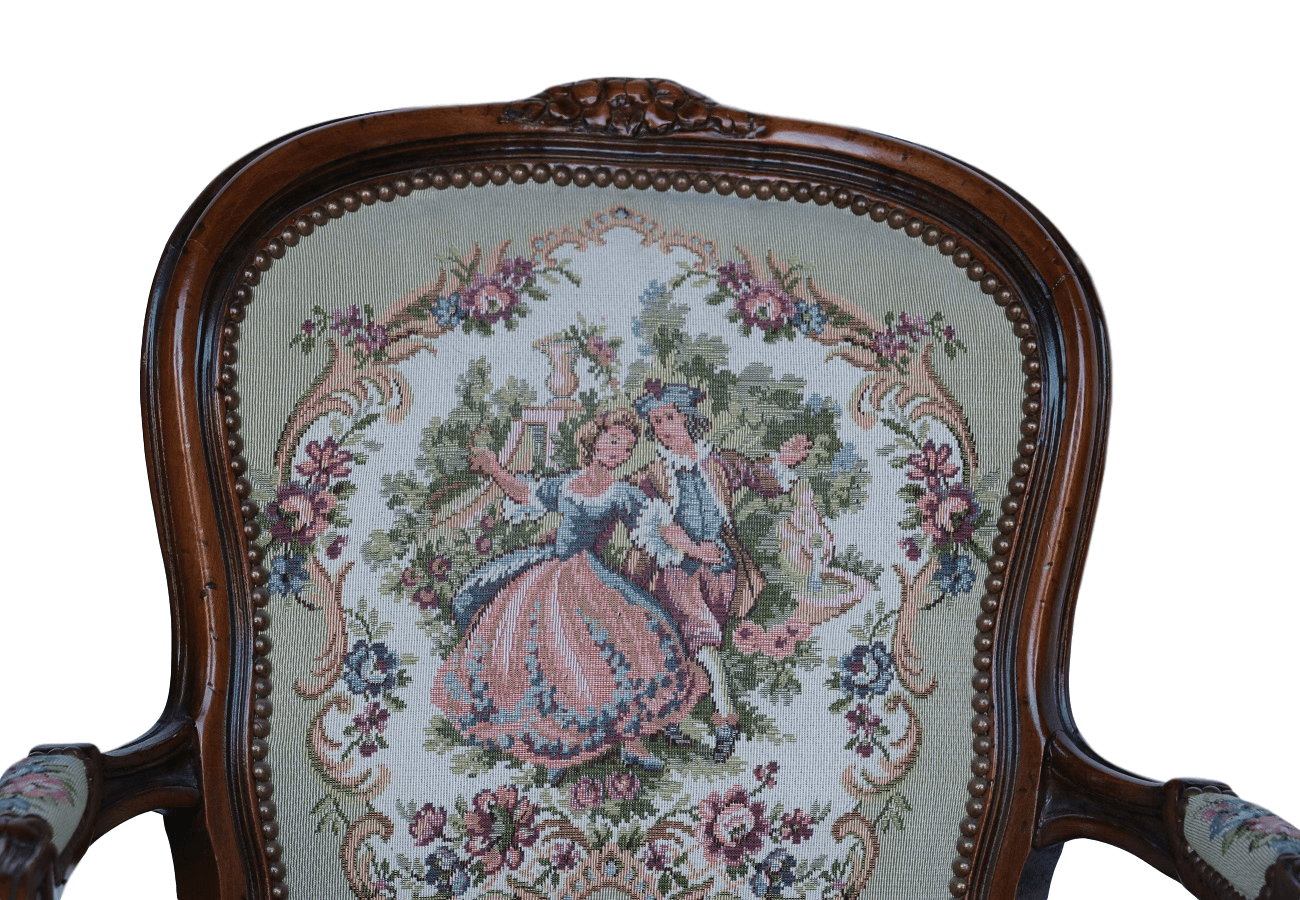 Vintage Chateau D Ax French Provincial Tapestry Ornate