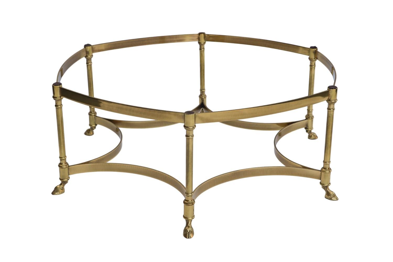 Labarge Hexagonal Brass Glass Coffee Table