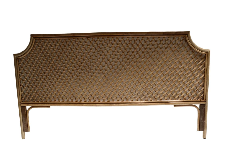 Vintage Quality King Size Bamboo Rattan Headboard
