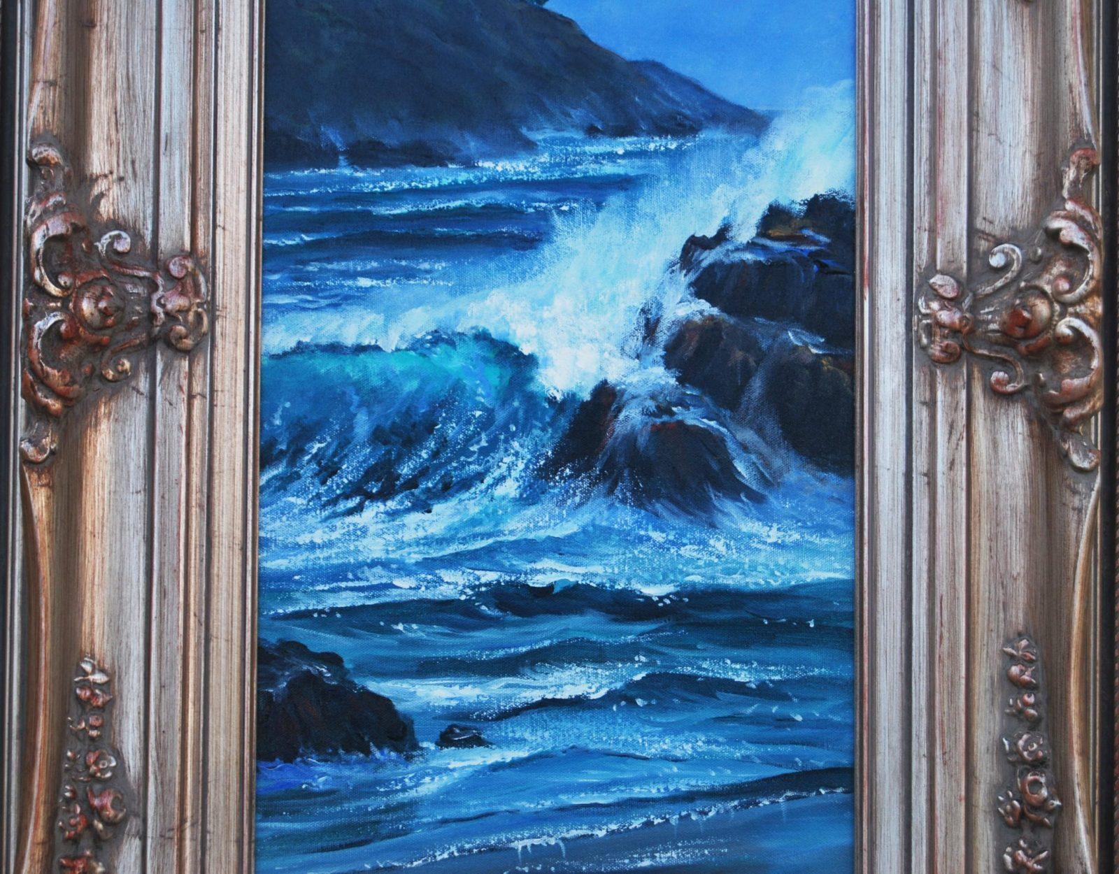 Violet Parkhurst Lighthouse Oil Painting