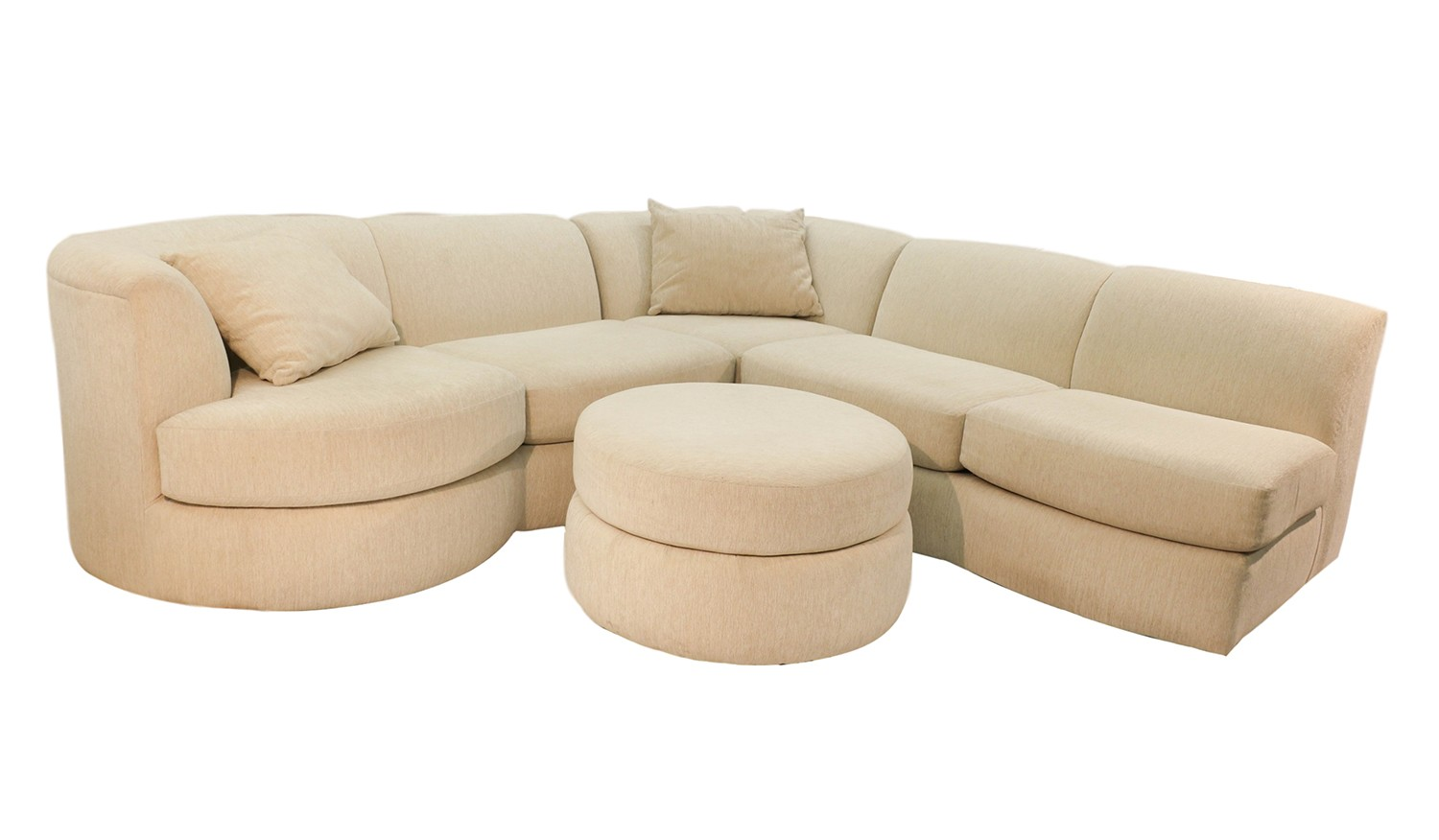 Weiman mid century modern sectional sofa with ottoman for Sofa ottomane
