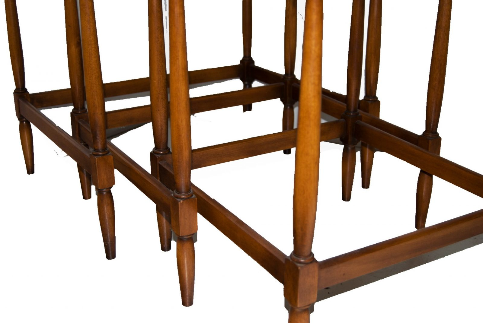 Cherrywood Dining Room Sets Vintage Cherrywood Federal Style Nesting Tables