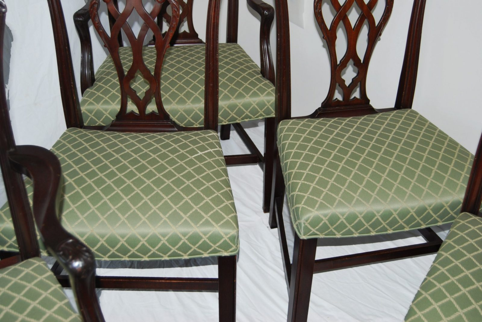 Set Of Six English Chippendale Style Mahogany Antique Dining Chairs C 1900