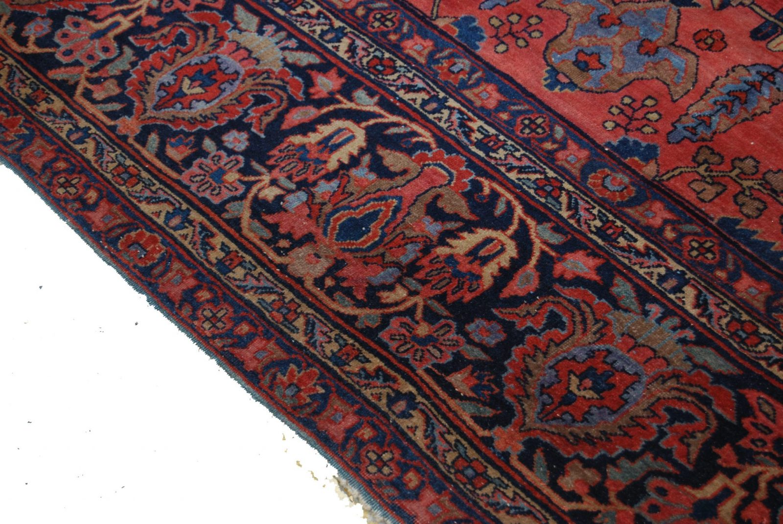 Antique Persian Wool Hand Knotted Sarouk Rug