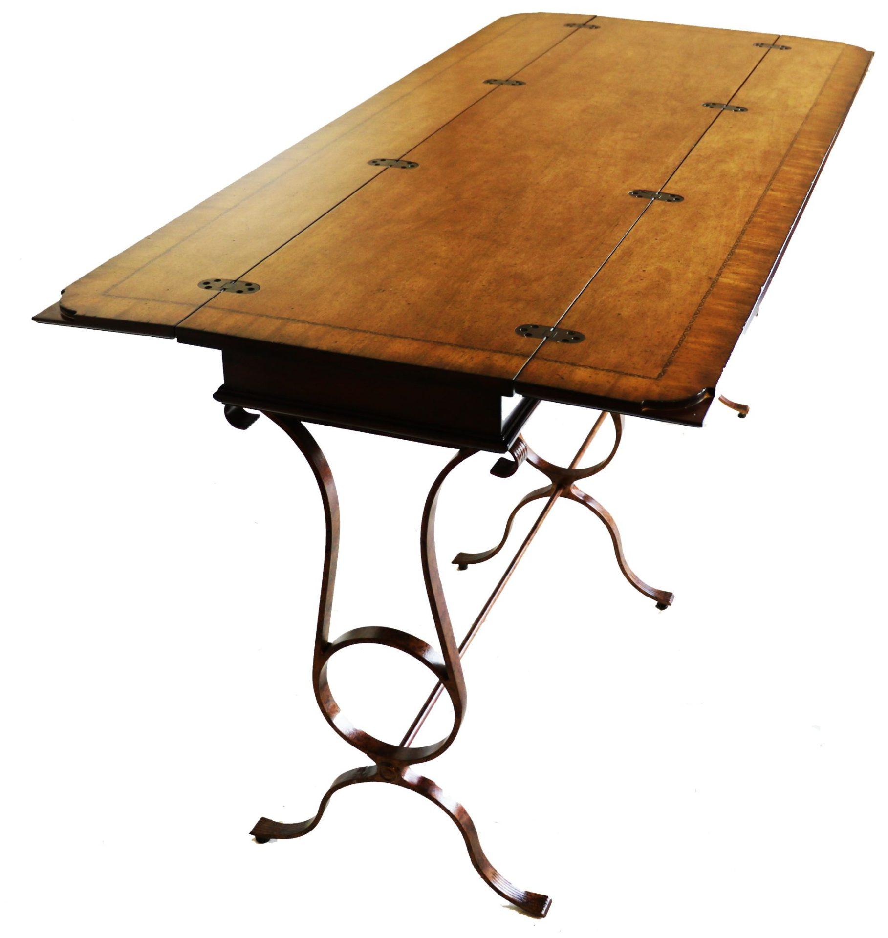stanley furniture flip top console table. Black Bedroom Furniture Sets. Home Design Ideas