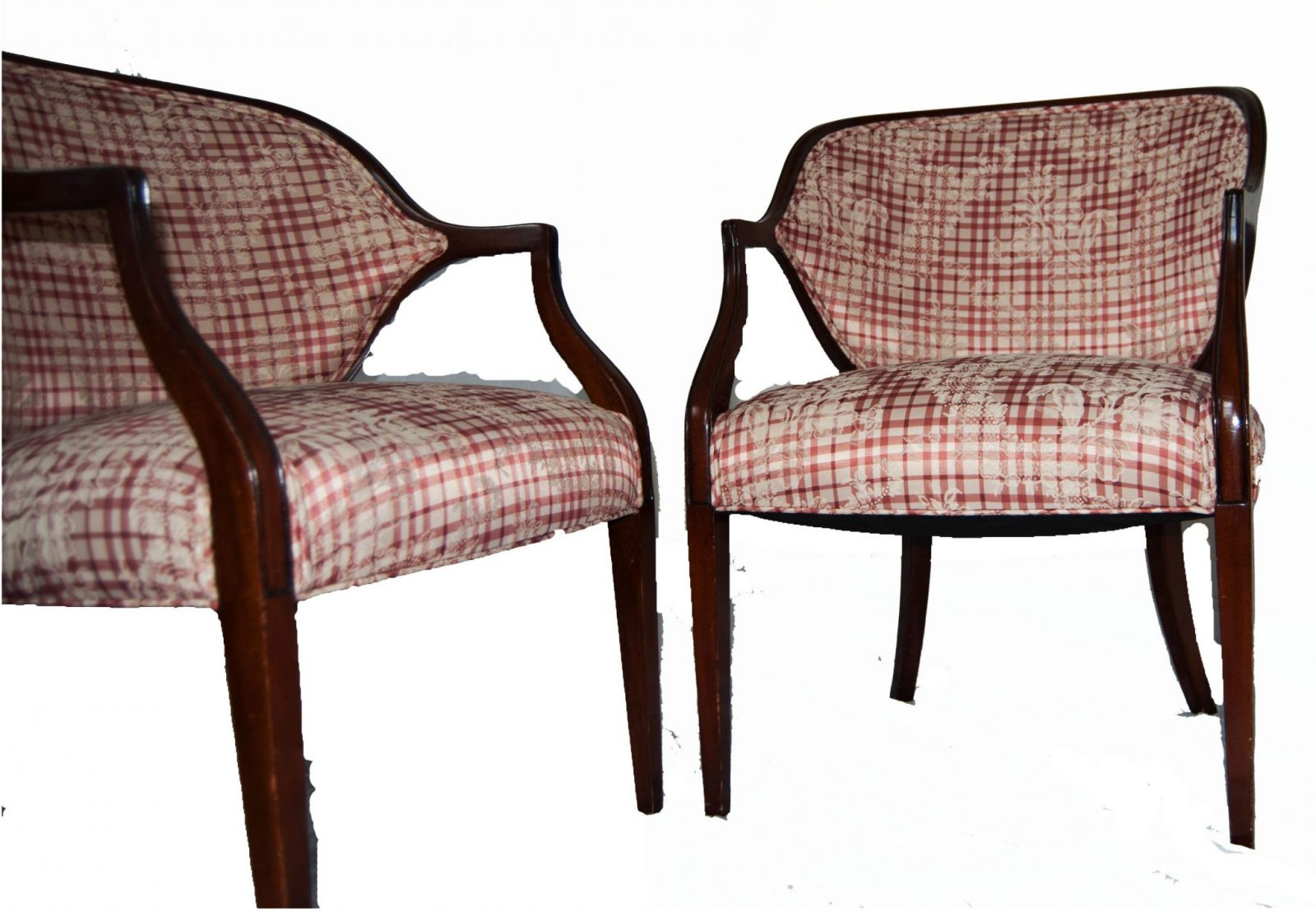 A pair of federal style mahogany and upholstered armchairs for Styles of upholstered chairs