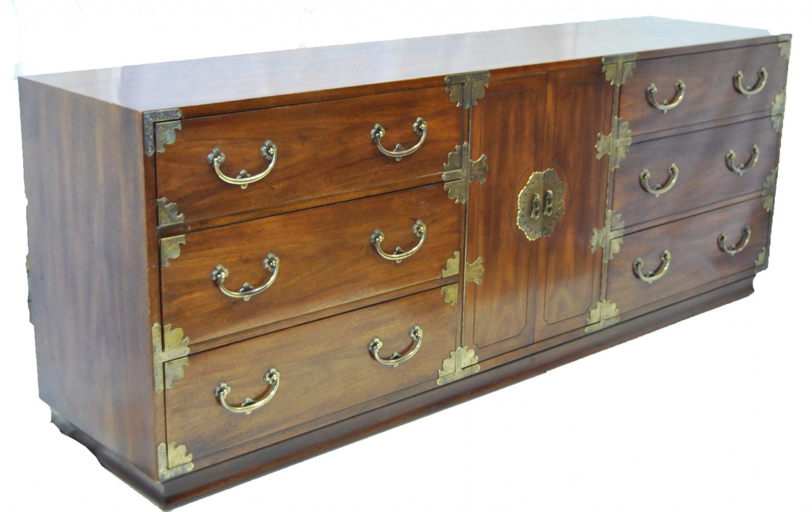 Asian Inspired Campaign Long Chest Of Drawers By Henredon