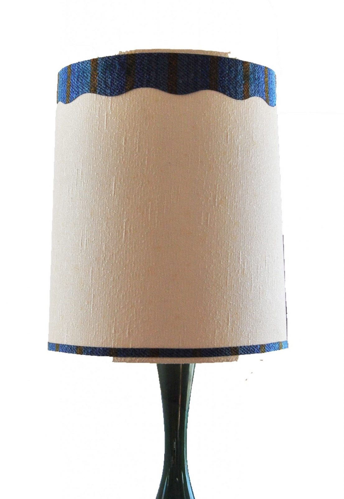 Mid Century Lamp Vintage Blue Green Ceramic Lamp