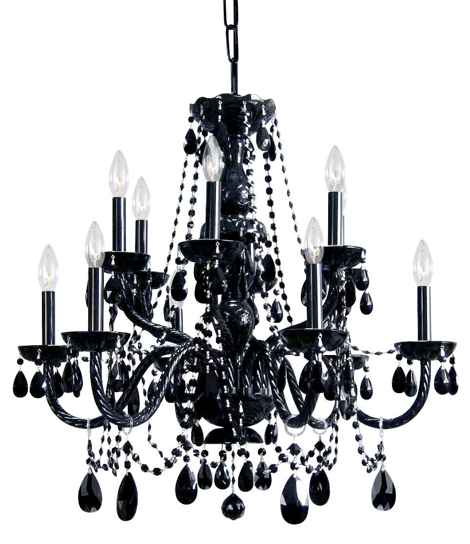 Black Crystal Arm Chandelier