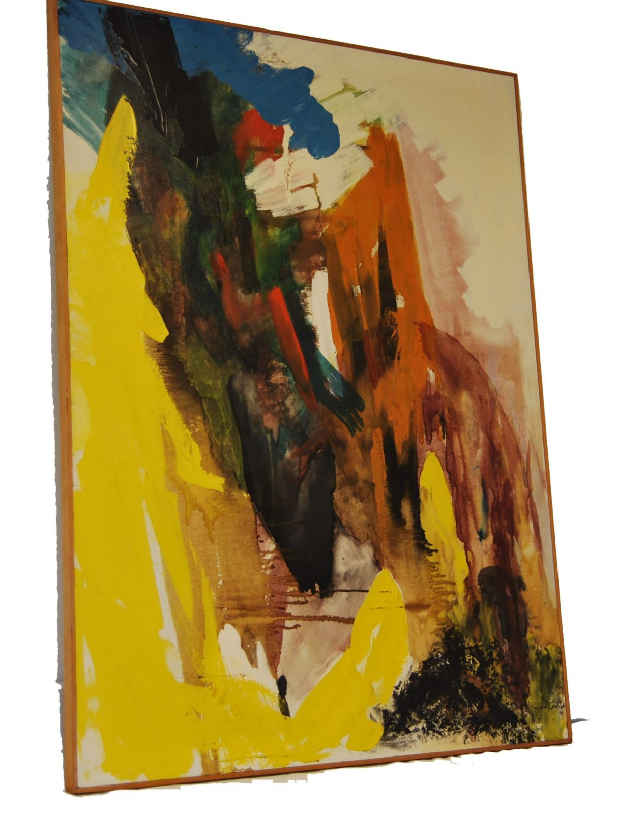 Abstract Oil Painting Mid Century Contemporary Art