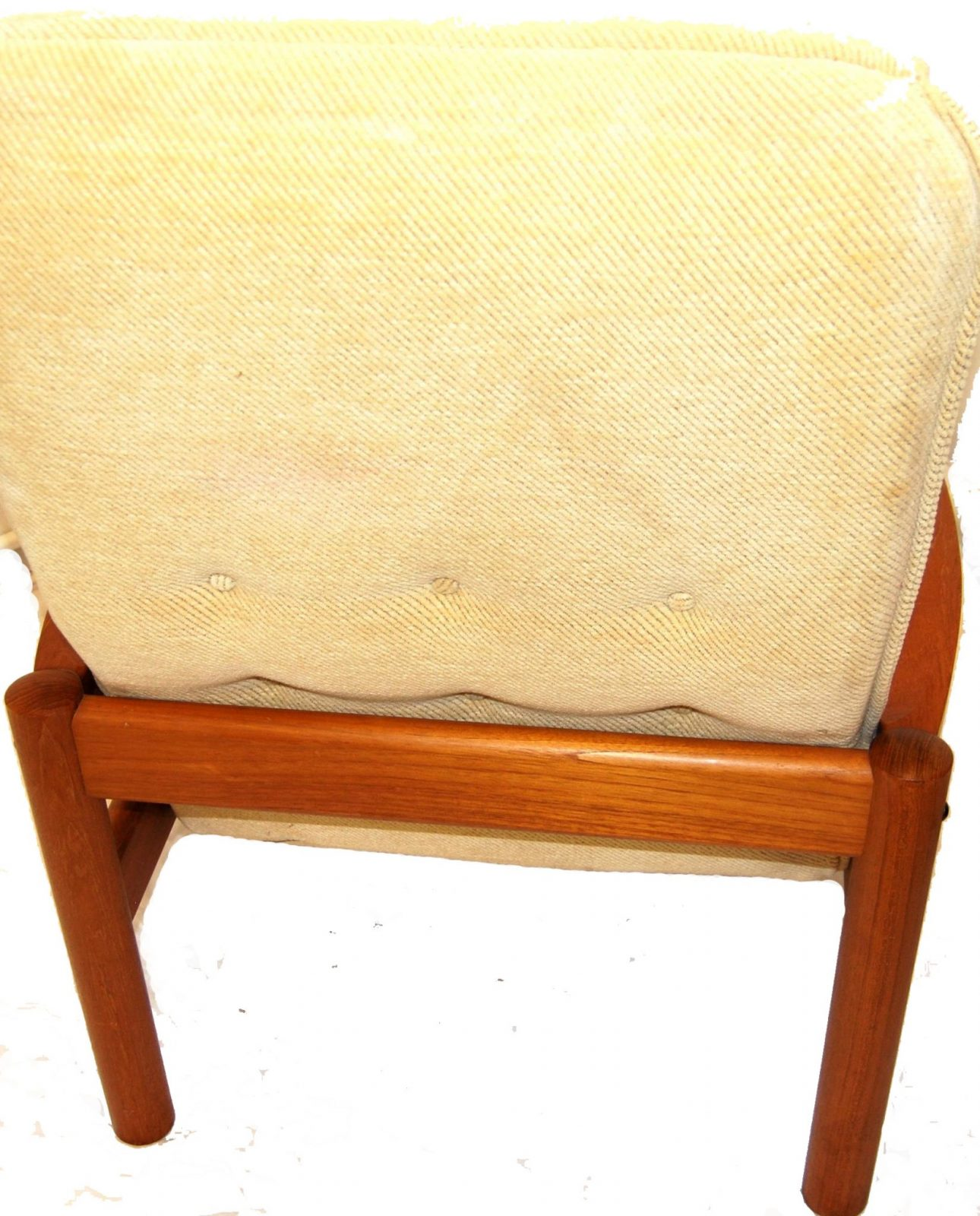 Mid Century Danish Modern Domino Mobler Teak Lounge Chair