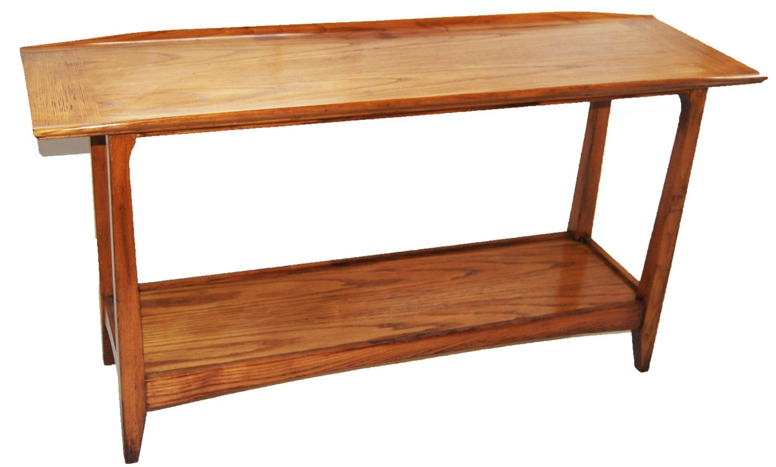 Mid century modern danish style console table for Slim sofa table