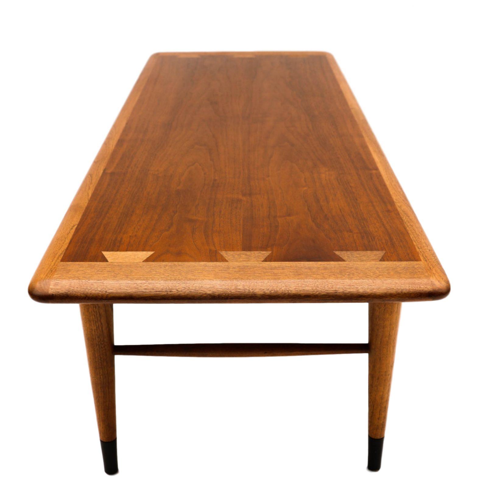 Mid Century Modern Furniture Lane Coffee Table Inlaid Dovetail